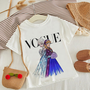 This Little Ones Boutique -So fun Vogue T-shirt Funny Cartoon Print Made oof Cotton fits True to size - Little Ones Boutique