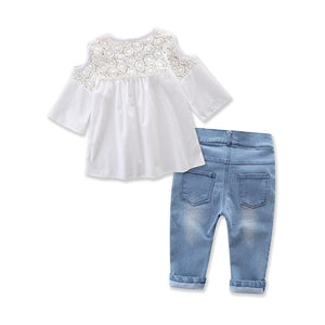 The Caprice Blouse and Jeans - Little Ones Boutique