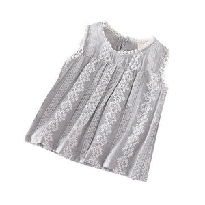 Super Sweet Sleeveless Blouse - Little Ones Boutique