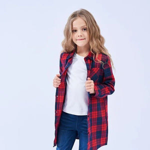 The Mattie Plaid Blouse - Little Ones Boutique