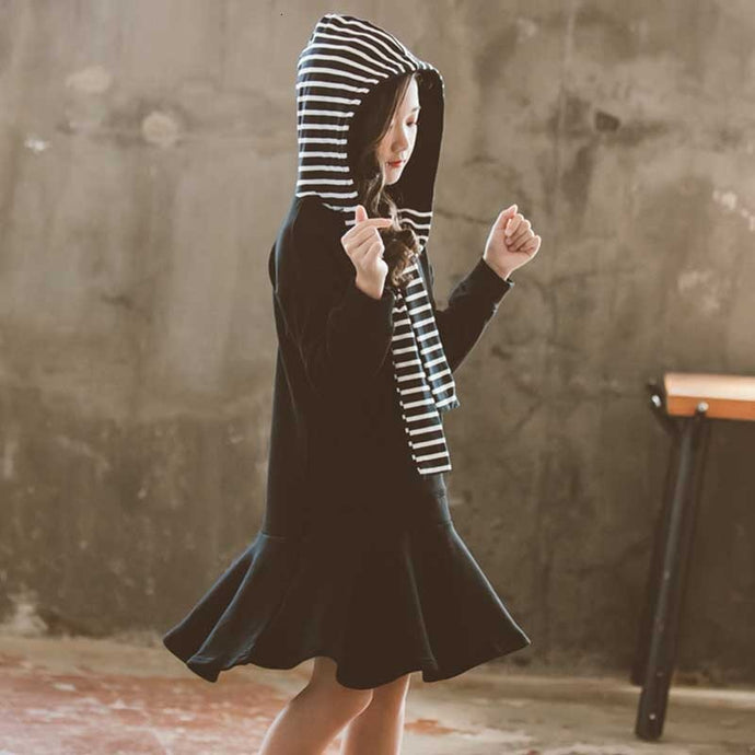 The Parker Hooded Dress - Little Ones Boutique