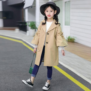 The Lia Trench Coat - Little Ones Boutique