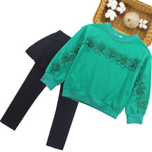 Load image into Gallery viewer, The Landrey Sweatshirt & Skirted Leggings - Little Ones Boutique