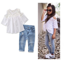Load image into Gallery viewer, The Caprice Blouse and Jeans - Little Ones Boutique