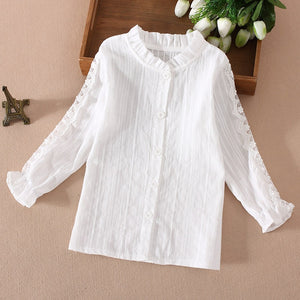 This Little Ones Boutique -Lovely Lace Girls Blouse Cotton fits true to size .So well detailed - Little Ones Boutique