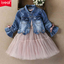 Load image into Gallery viewer, The Tilly Tutu dress with the Denim Jacket - Little Ones Boutique