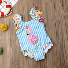 Load image into Gallery viewer, This Little Ones Boutique -Let's Flamingo this one piece will sure be a hit in the sun fit is true to size - Little Ones Boutique
