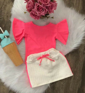 The Madalyn T-shirt and Skirt - Little Ones Boutique