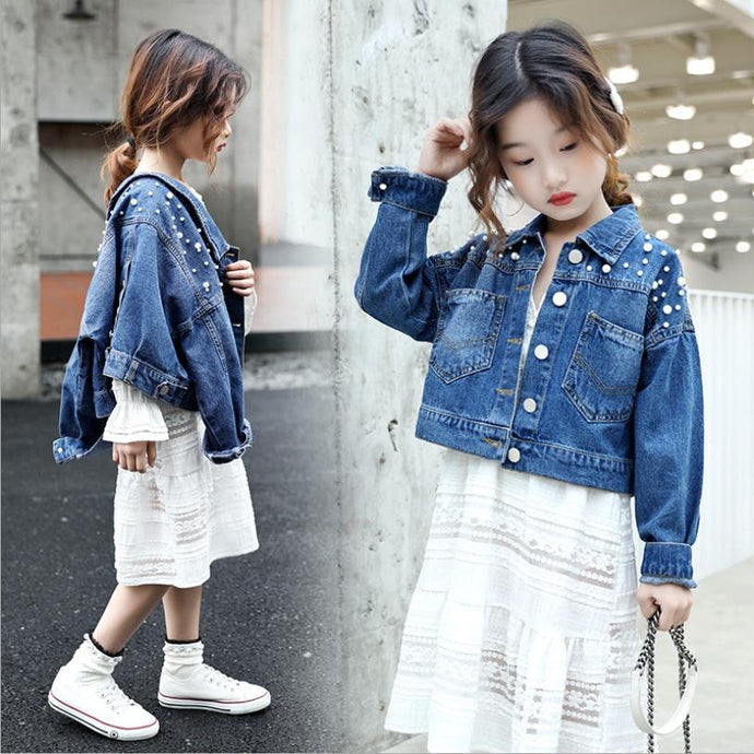 The Aria Dress and Denim Jacket - Little Ones Boutique