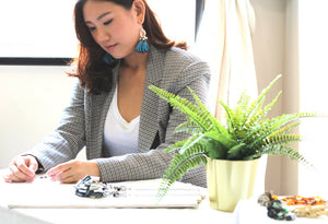 ZERRIN interviews Gin Tan, the founder of ethical jewellery label Yard Yarn in her Singapore-based creative studio