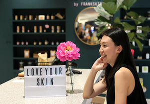 ZERRIN interview's Cissy Chen, founder of organic skincare label Frank Skincare, at her Ode to Organics store in Singapore.