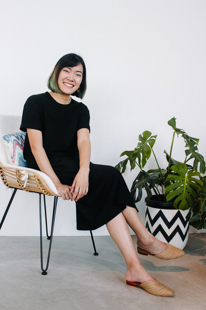 Local fashion designer Audris Adabella Quek succesfully crowdfunded her ethical fashion label