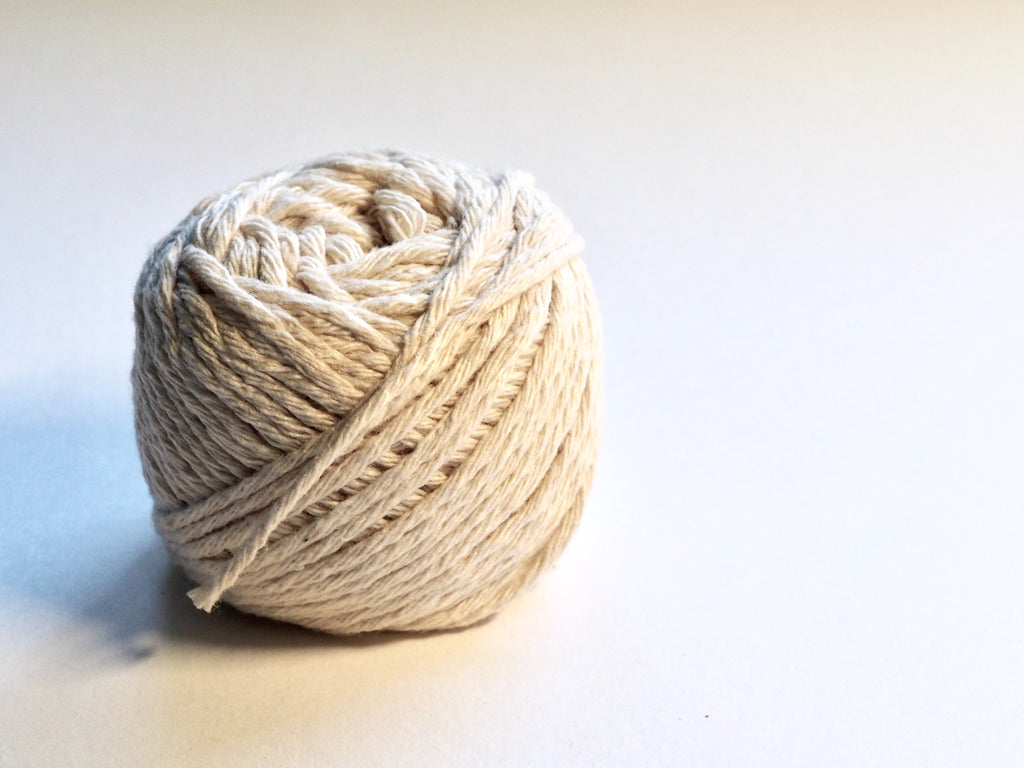 Image of a ball of thread to accompany article on sustainable fibers on ZERRIN