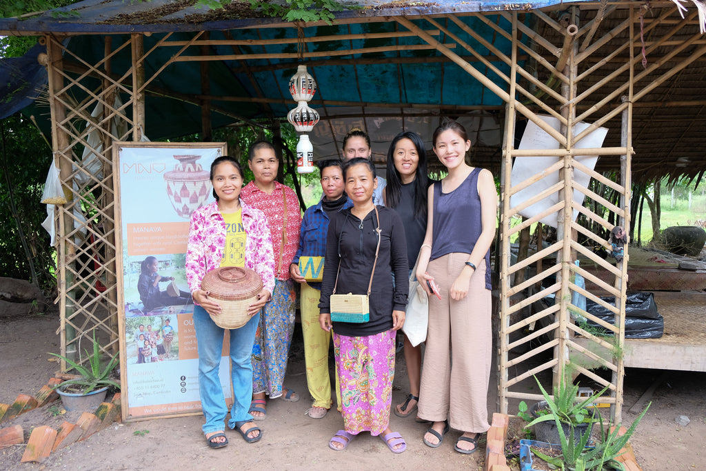 Craftwork by MANAVA help support the income of women in rural Krobey Riel village