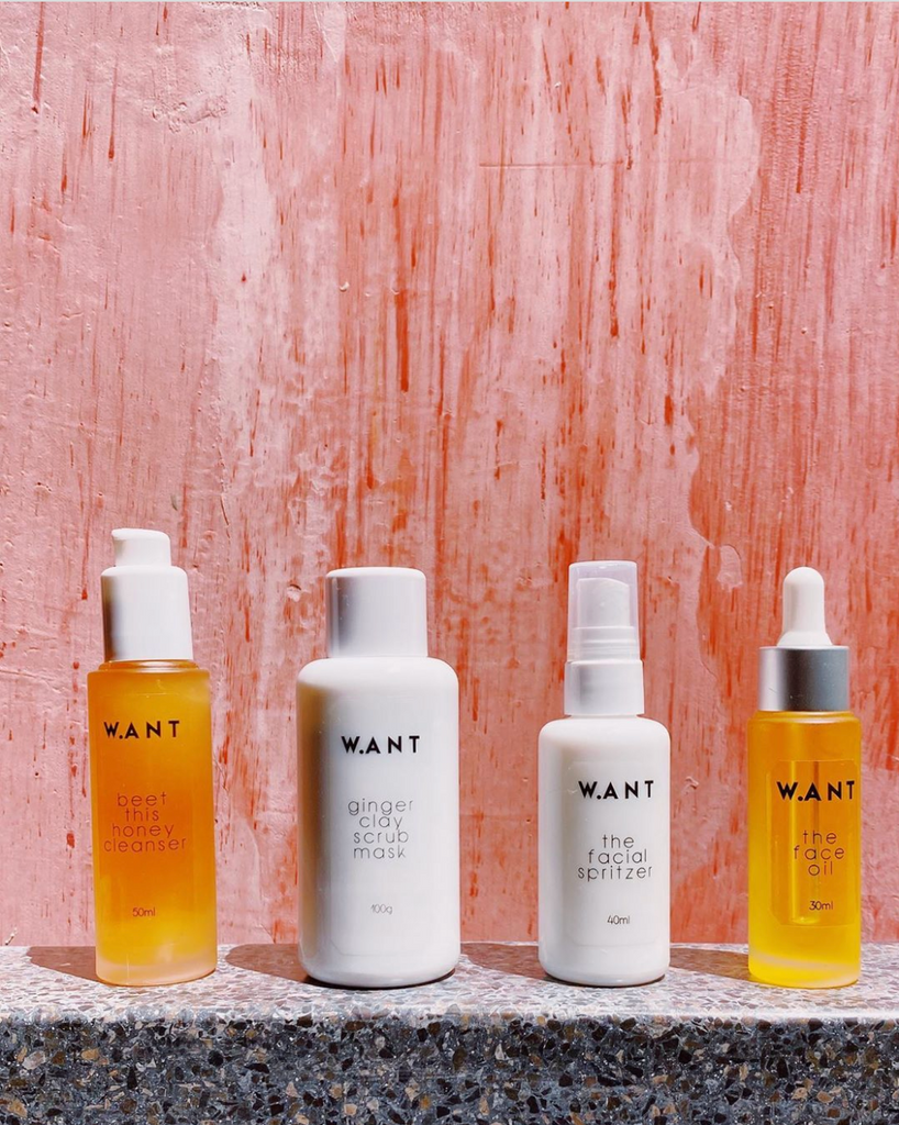 Natural beauty products by Want Skincare