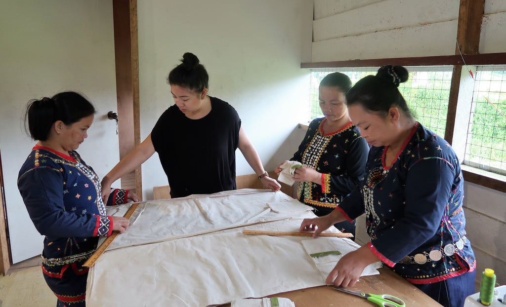 Designer Lorraine Lee, founder of Talee, working with women through the SWEPA organisation in Sabah