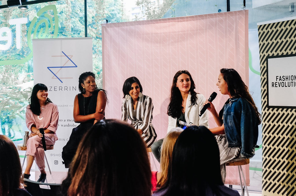 sustainable fashion in Singapore ZERRIN panel talk on Fashion Revolution Day