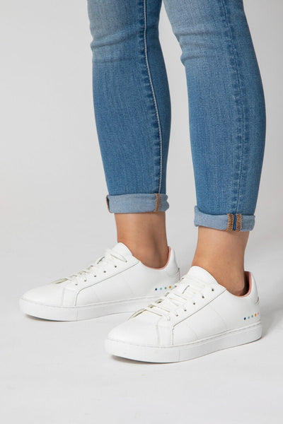 Lacess Avril Leather Trainers in White