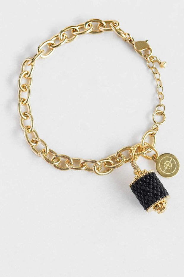 Eden & Elie Everyday Charm Bracelet in Black