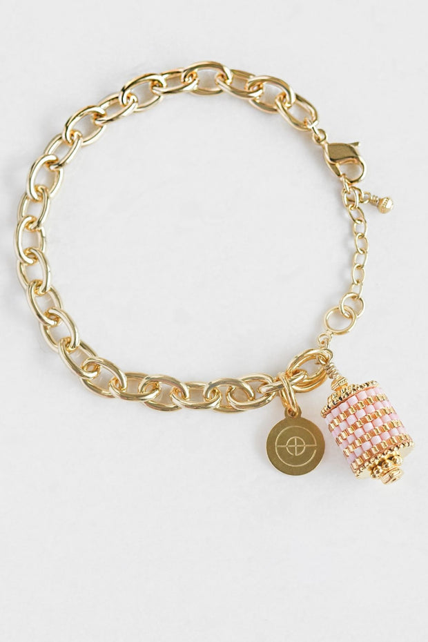 Eden & Elie Everyday Charm Bracelet in Blossom Gold