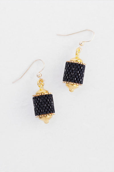 Eden & Elie Everyday Drop Earrings in Black