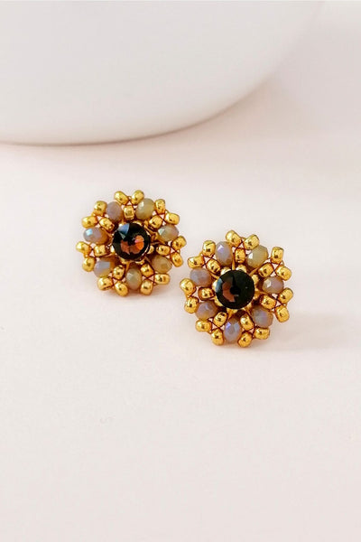 Eden & Elie Andromeda Stud Earrings in Amber