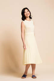 Tove & Libra Pointelle Midi Dress in Morning Sun