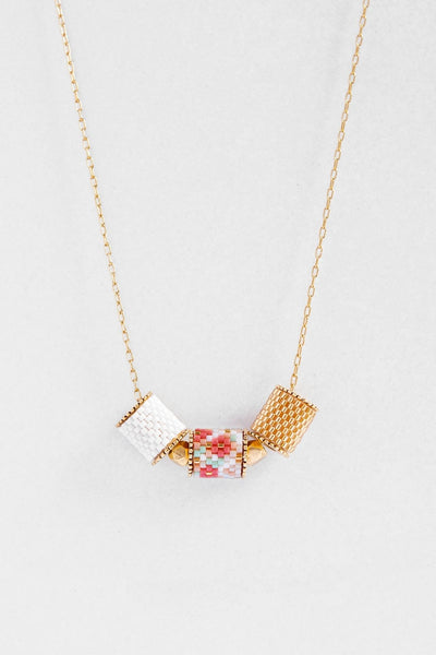 Eden & Elie Peranakan Everyday Necklace in Cherry Blossom