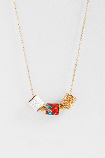 Eden & Elie Peranakan Everyday Necklace in Vermillion