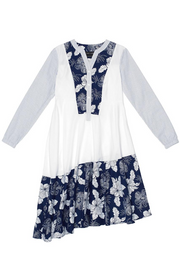 Tove & Libra Swing Shirt Dress in Navy Floral
