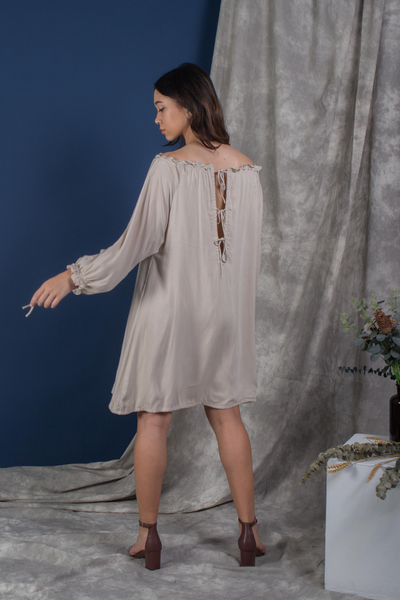 Whispers & Anarchy Cold Shoulder Kaftan in Buttercream