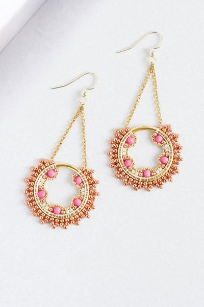 Eden & Elie Celestia Swing Earrings in Capella