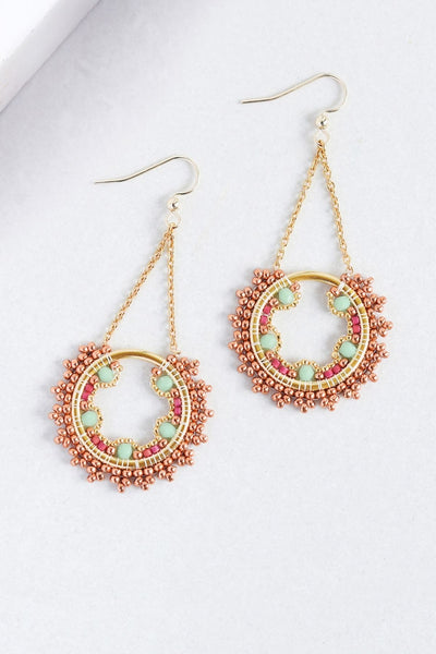 Eden & Elie Celestia Swing Earrings in Flora