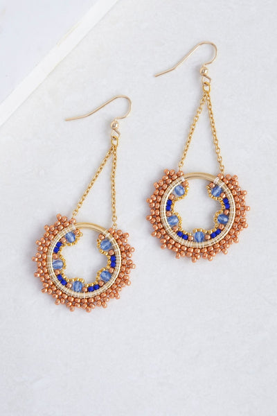 Eden & Elie Celestia Swing Earrings in Lake