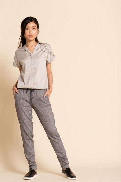 Tove & Libra Blouson Shirt in Zen Grey