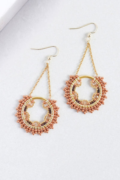 Eden & Elie Celestia Swing Earrings in Sienna