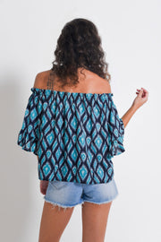 Aanya Ikat Off Shoulder Blouse, available on ZERRIN