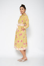 Baliza Obi Dress in Yellow Marigold