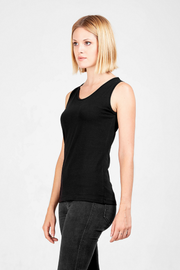 Dorsu fitted tank top in black, available on ZERRIN