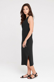 Dorsu Relaxed Tank Dress in Black, available on ZERRIN