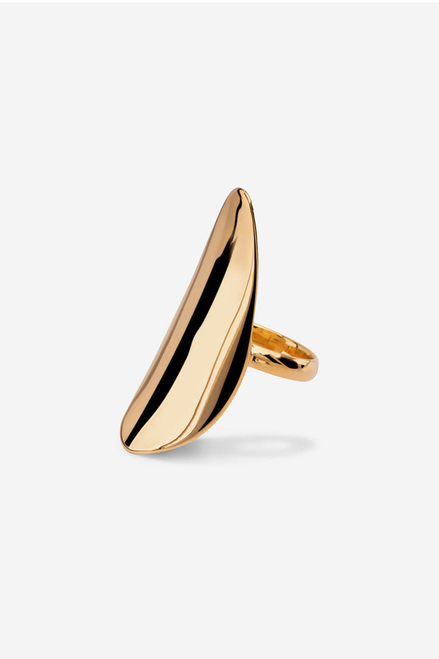 Juno leaf ring by Emi & Eve, available on ZERRIN