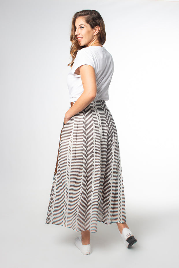Maisha Concept Chaand Maxi Skirt in Grey