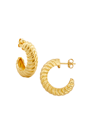 Pyar Saturn Gold Stud Hoop Earring, available on ZERRIN with free local Singapore shipping