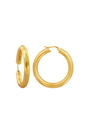 Side view of Pyar Jupiter Gold Hinged Hoop Earrings, available on ZERRIN with free shipping in Singapore