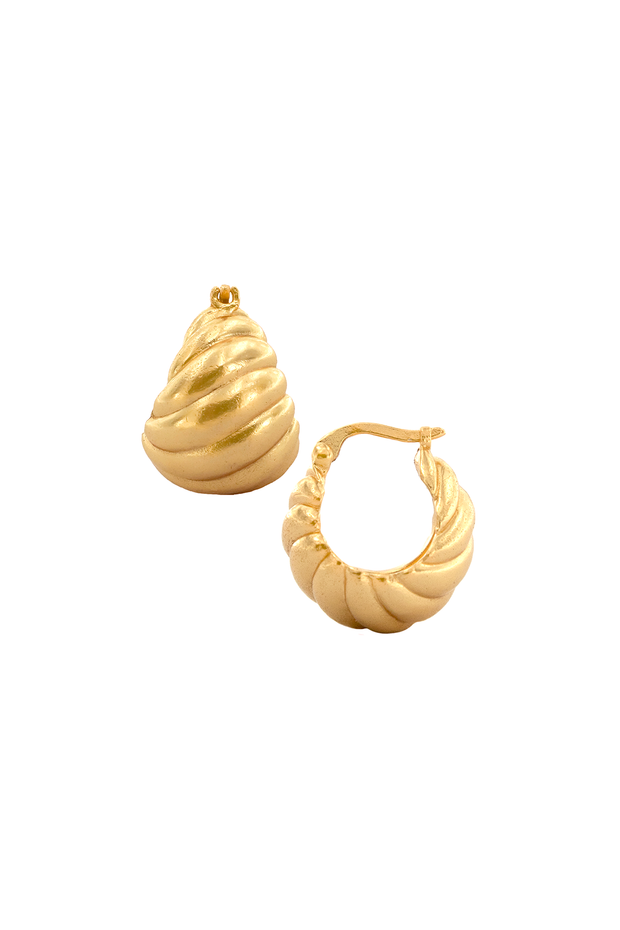 Pyar Venus Gold Hoop Earrings, available on ZERRIN with free shipping in Singapore