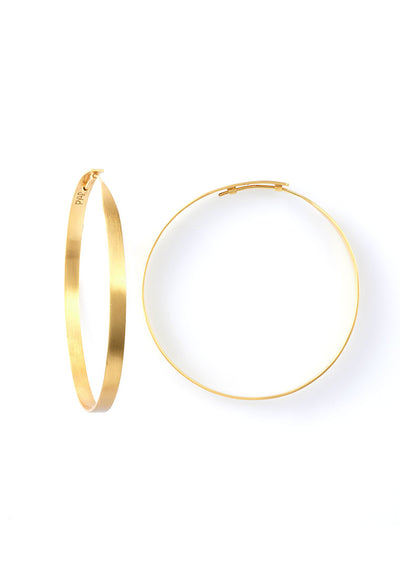 Pyar Gold Hoop Earrings in Large