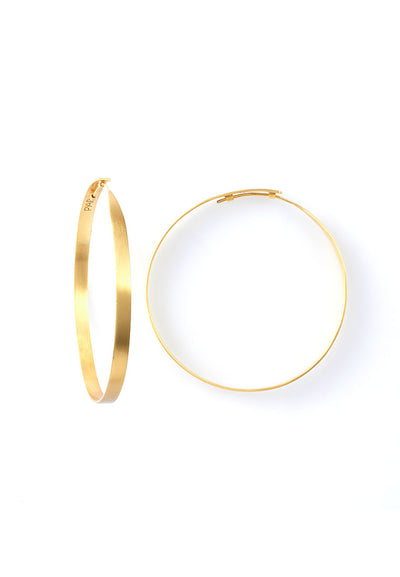 Pyar Gold Hoop Earrings in Medium