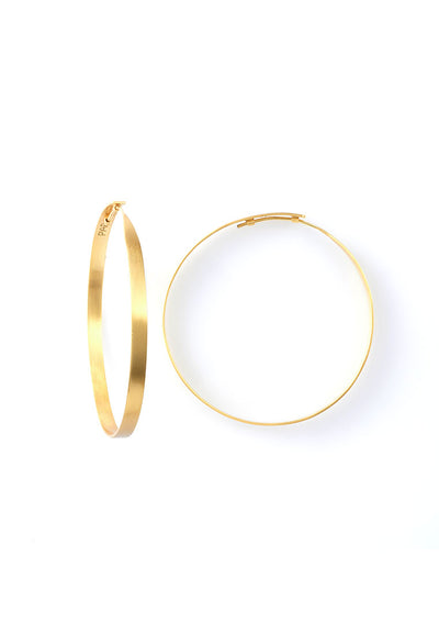 Pyar Gold Hoop Earrings in Small