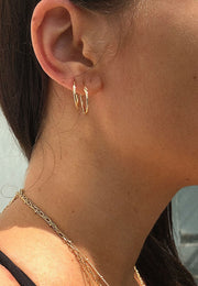 Pyar Hinged Hoop Earrings in Gold