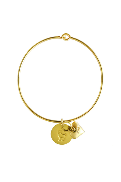 Pyar Zodiac Heart Bangle in Aries